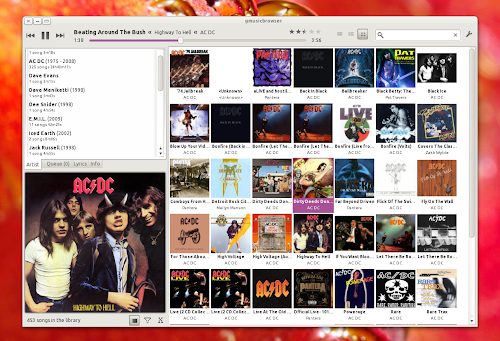 gMusicBrowser shimmer layout