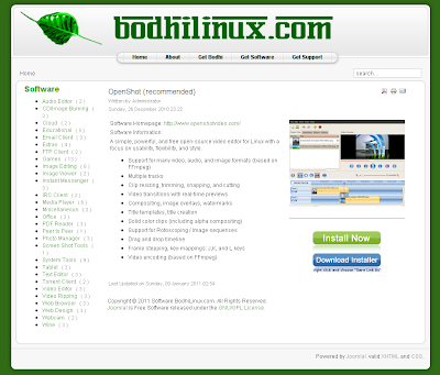 Bodhi Linux online software center