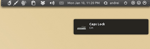 how to get caps lock notification on screen