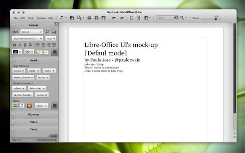 LibreOffice UI mockup
