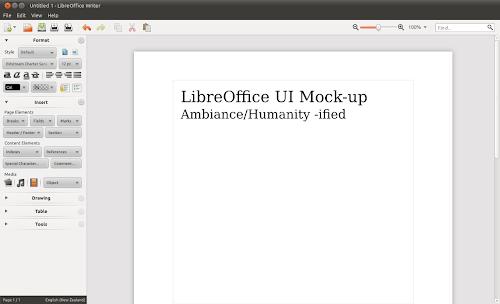 Libreoffice sidebar mockup