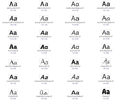 Google Font Directory