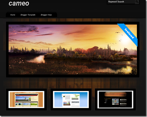 Cameo Blogger template