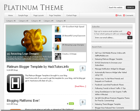 Platinum Blogger Template