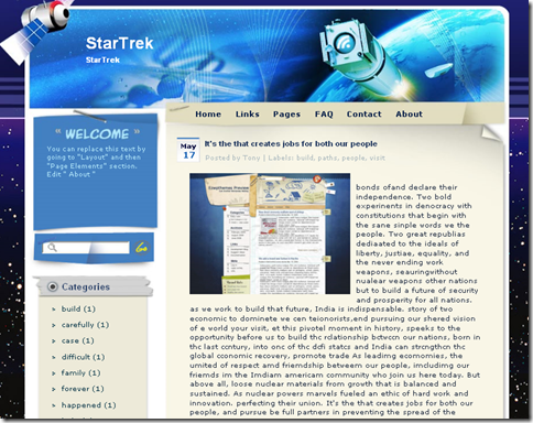 Star Trek Blogger Template