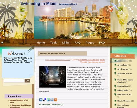 Swimming in Miami