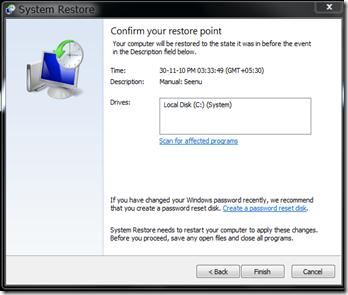Revert System Restore2