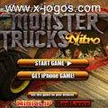 Monster Trucks Nitro: Dirija enormes caminhões em percursos com obstáculos