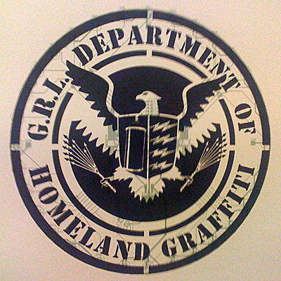 """Department of Homeland Graffiti"": Oh how clever"