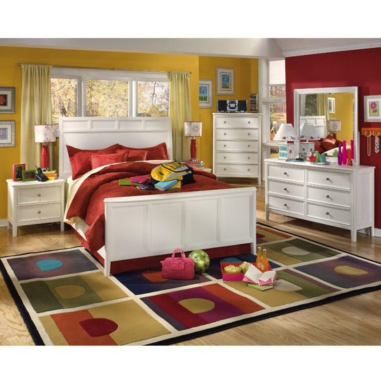 Popular Doll House Twin Loft Bed Caspian Youth Bed Set