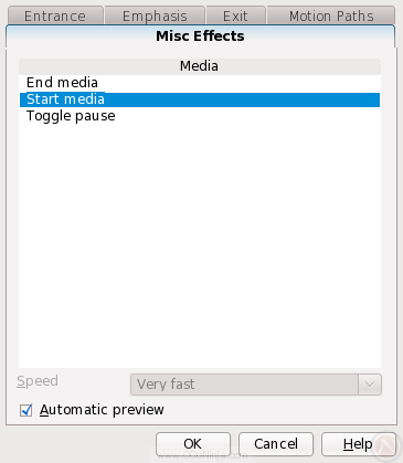 Flexibly start, pause, or stop audio and video through custom animation effects in OpenOffice.org Impress 3.1
