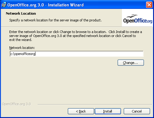 OpenOffice.org 3.0 network location path