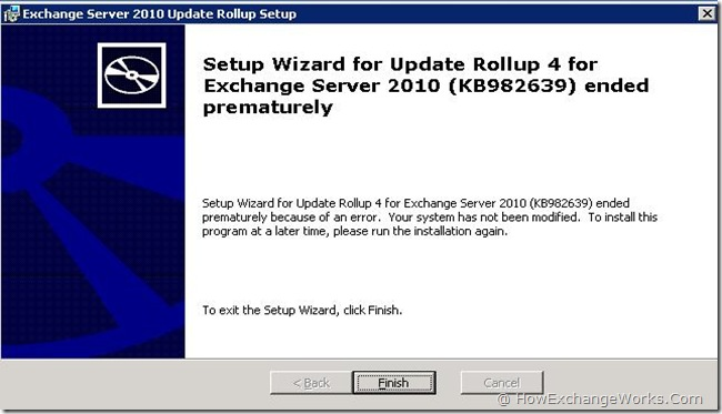 Update Rollup 4 Error
