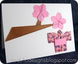 cherry blossom, kimono card- traditional (3)