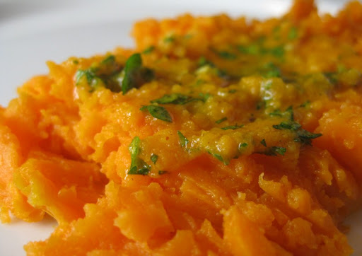 Yams with Moroccan Compound Butter