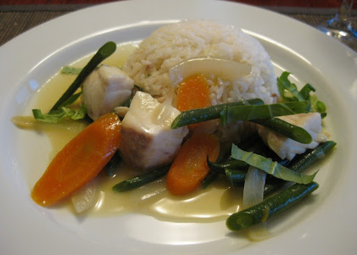 Green Curry with Halibut