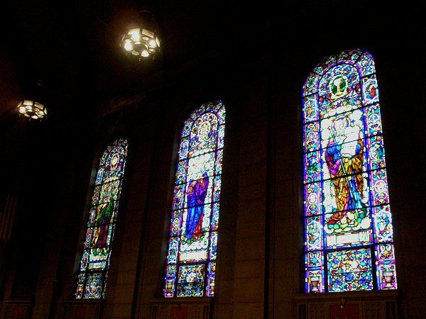 [Stained-glass windows]