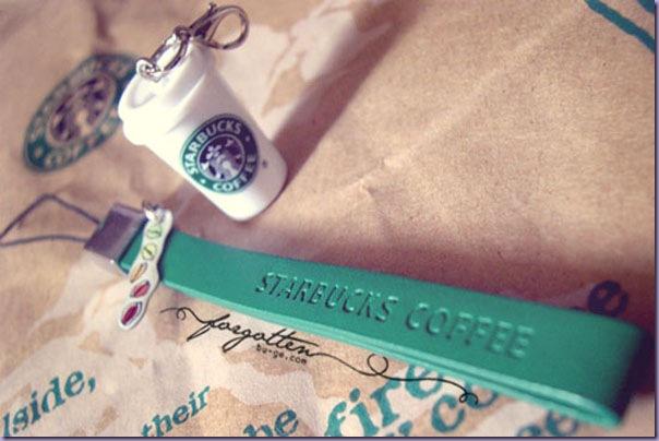 Strap-Celular-Pingente-Copo-Café-Starbucks