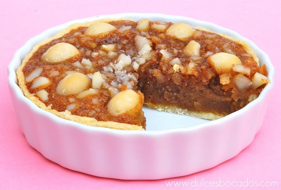 tarta de nueces macadamia y vainilla