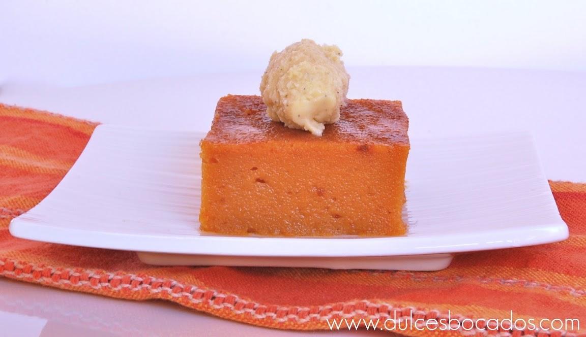 pastelitos de boniato y helado de vainilla