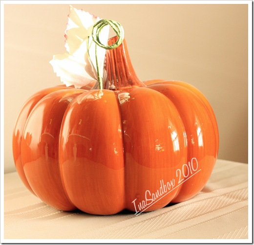 ceramic pumpkin with logo