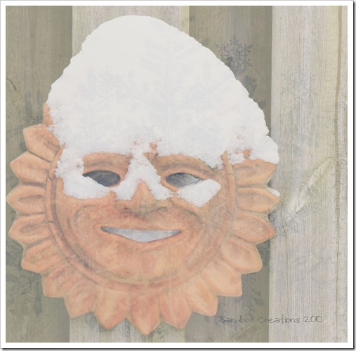 Sunman with snow textured