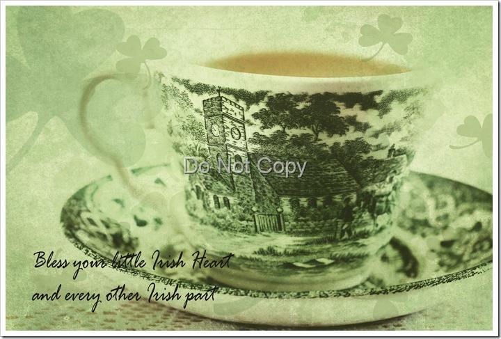 Green tea florabella Irish texture