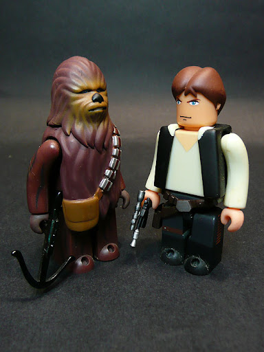 And then there's Kubrick Star Wars Han Solo and Chewbacca