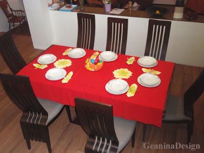 Aranjamente pentru Sarbatoarea Pastelui: aranjamente mese.