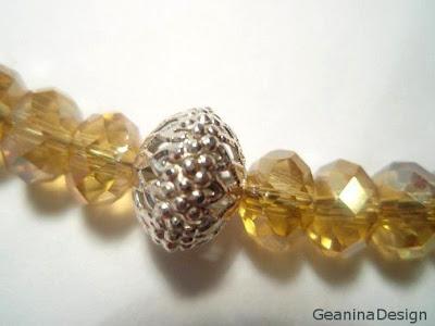 Colier din cristale Swarovski galbene, GeaninaDesign.