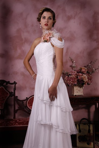 classic tiers wedding  dress,bridal gown
