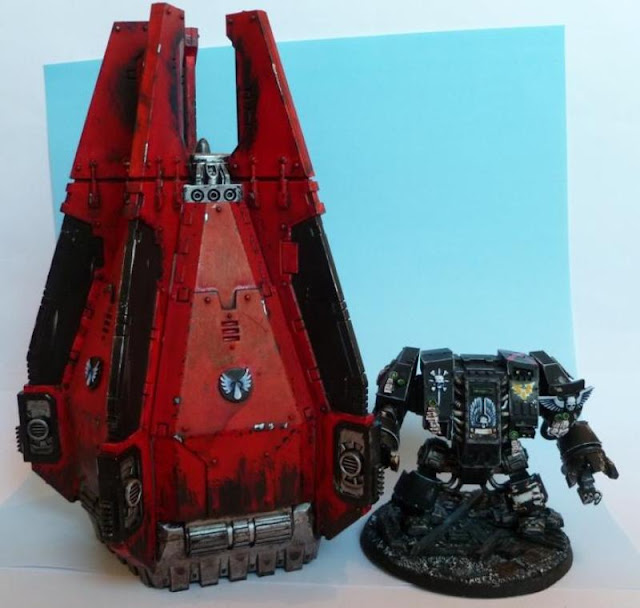 Blood Angels Dread Furioso Cie de la mort et son Pod
