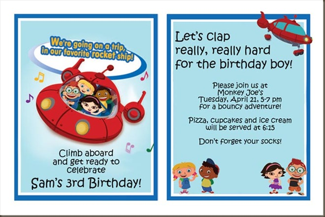 Sam's 3rd birthday invite copy