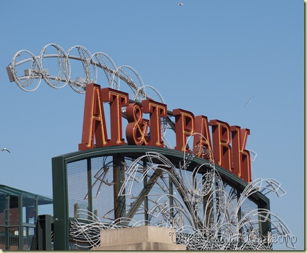 Giants Game - ATT Park Sign