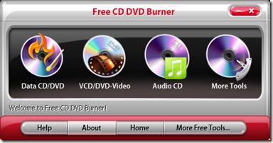 Free CD DVD Burner inizio