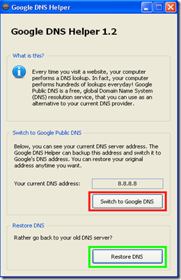 Google DNS Helper