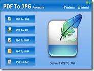 Convertire PDF in immagine JPG, TIF, BMP, PNG e GIF con PDF To JPG gratis