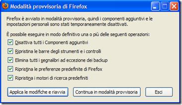 Come resettare Firefox