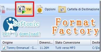 FormatFactory - Avvio conversione