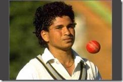 Young Sachin Bowling