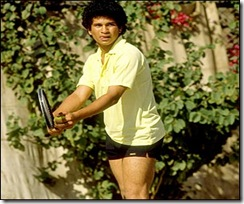Sachin Playing Tennis