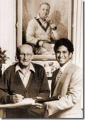 Sachin with Don Bradman