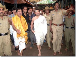 Sachin In Temple