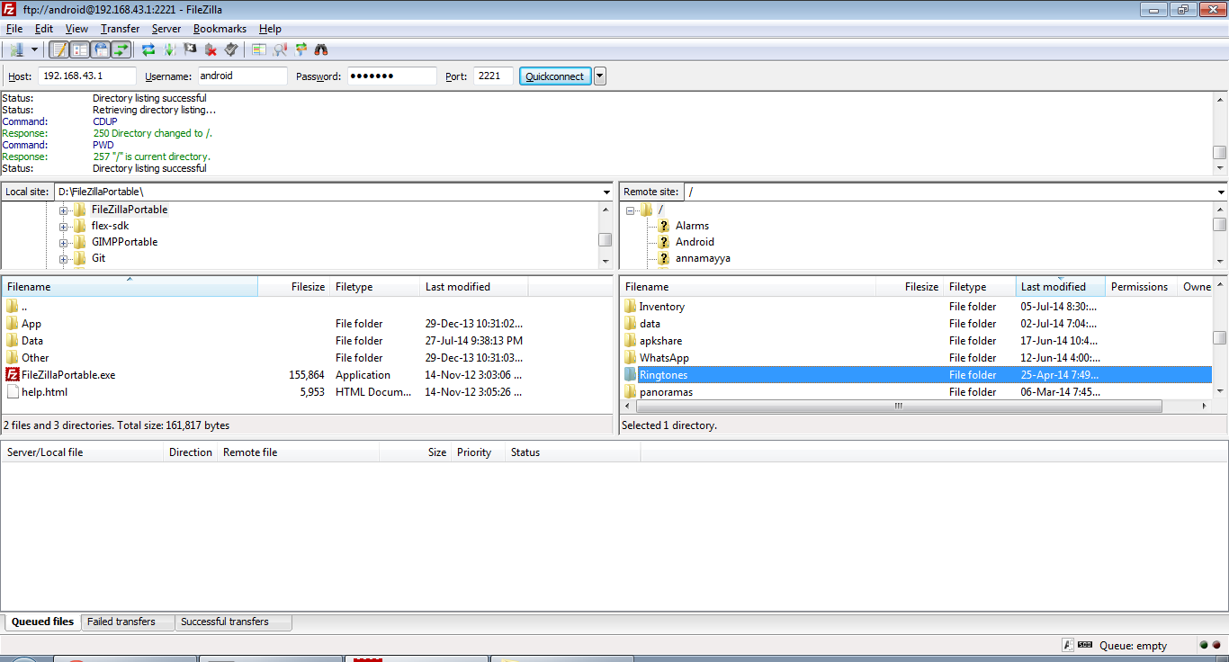WiFi Pro FTP Server Screenshot 4