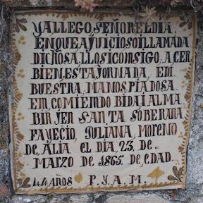 Epitafio. Cementerio de Oropesa (Toledo)
