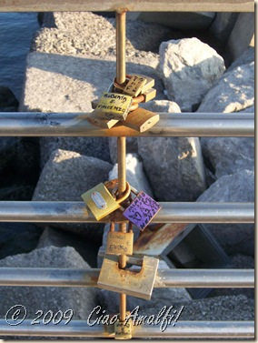 Ciao Amalfi Coast Blog Love Locks 1