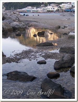 Ciao Amalfi Coast Blog Autumn Capri Beach Reflection