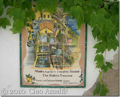 Ciao Amalfi Blog Mamma Agata Sign