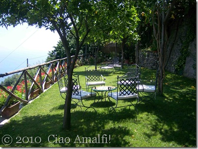 Ciao Amalfi Blog Mamma Agata Grassy terrace