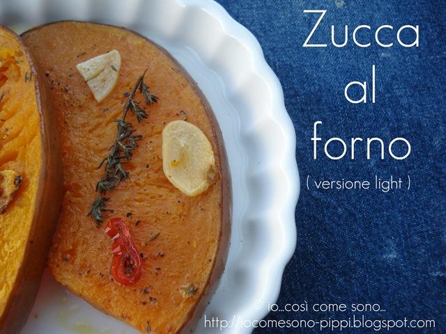 Zucca al forno (versione light)